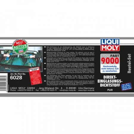 Trusă Liqui Moly montat geamuri Liquifast 9000 - set pungă