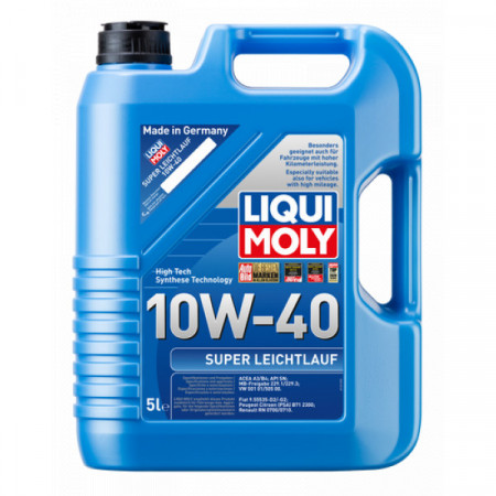 Ulei motor Liqui Moly Super Leichtlauf 10W-40 (2654) (9505) 5L
