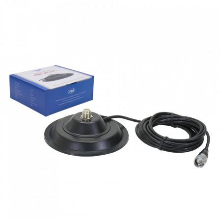 Antena Radio CB PNI ML160, cu Baza Magnetica 145mm, 155cm
