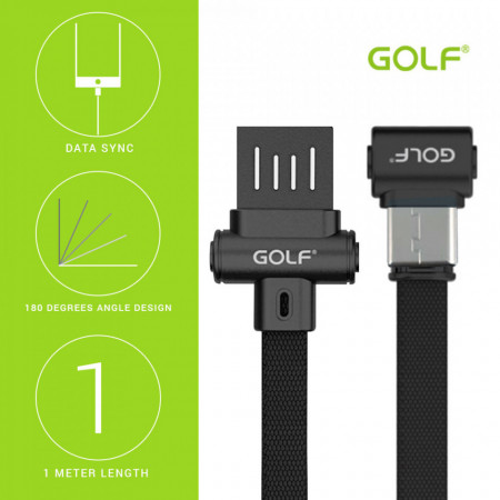 Cablu incarcare date fast charge Golf Tip C to USB Reverse, 3A, 1m