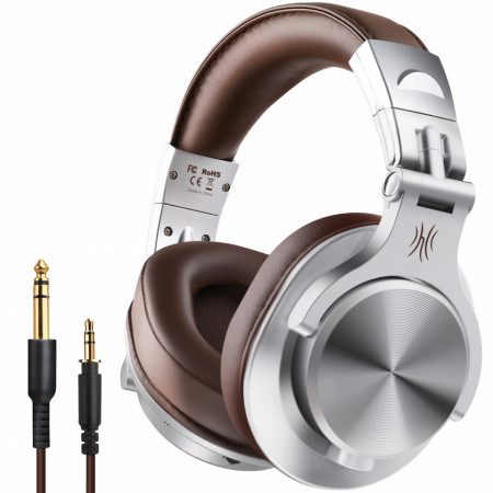 Casti Audio Over Ear Bluetooth Stereo OneOdio A70, Wireless & Wired Silver