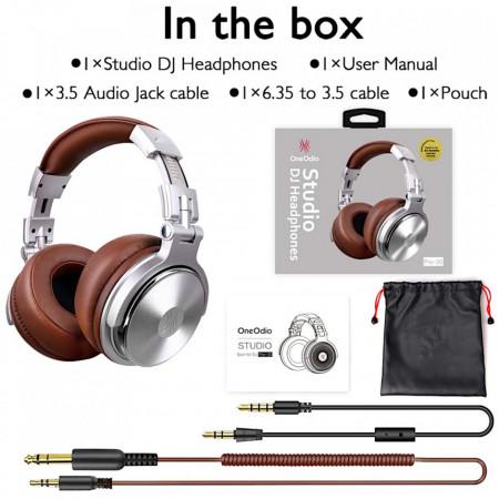 Casti Audio Over Ear OneOdio Pro-30 Studio Sliver
