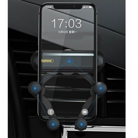 Suport Auto Universal Remax Gravity RM-C40, Montaj pe grila de ventilatie, Foto 5