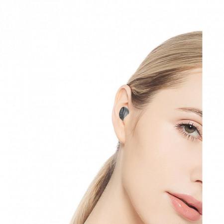 Casca Bluetooth, Golf B9, HandsFree, Deep Noise Reduction, model mini, Argintiu