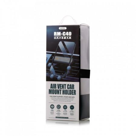 Suport Auto Universal Remax Gravity RM-C40, Montaj pe grila de ventilatie, Foto 6