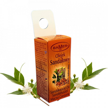 Ulei Esential Sandalwood West India (Amyris) Bamer, natural, pentru aromoterapie, cosmetica, baie, masaj, foto 3
