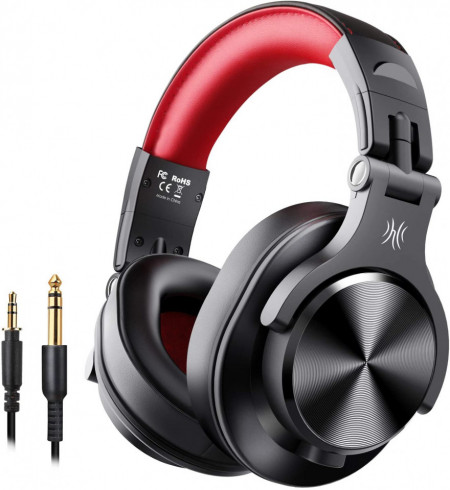 Casti Audio Over Ear Stereo OneOdio A70, Wireless Bluetooth & Wired Red