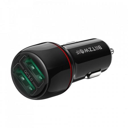 Incarcator Auto Blitzwolf BW-SD5, Dual USB, Fast Charge Qulacomm QC3.0, 25W, Foto2