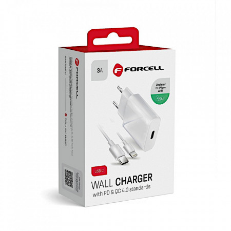 Incarcator Retea Forcell PD QC4.0 Fast Charge 20W 5903396072451 FOTO 2