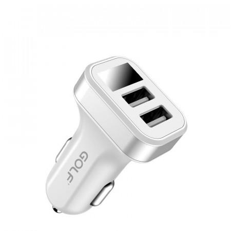 Incarcator telefon auto universal, Golf Quick Charge, LED Display, 2 x USB, 2.1A