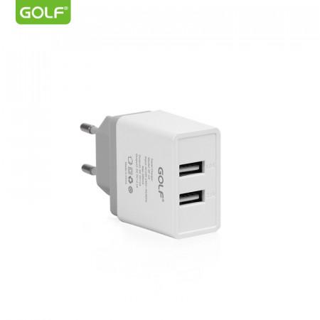 Incarcator Universal Telefon, pentru retea, Golf 2 x USB, 2,1A fara cablu