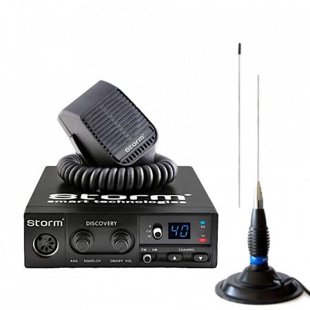 Kit Statie Radio CB Storm Discovery III cu Antena Megawat