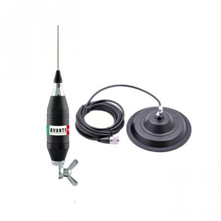Antena Radio CBAvanti Volo 130 cu Baza Magnetica Megawat 145DV, foto 1