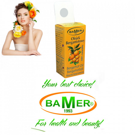 Ulei Esential de Bergamota Bamer, natural, pentru aromoterapie, cosmetica, baie, masaje, foto3