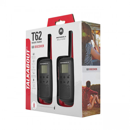 Motorola T62 Twin Pack Red, Rosu, Statii Portabile PMR, Walkie Talkie