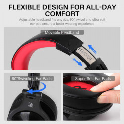 Casti Audio Over Ear Stereo OneOdio A70, Wireless Bluetooth