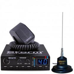 Kit Statie CB Storm Defender III 2019 + Antena Radio CB Avanti Carera 2 - Precalibrata