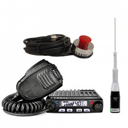 Kit Statie Radio CB Avanti Supremo Power-version + Antena CB Avanti Cento + Suport Portbagaj Avanti