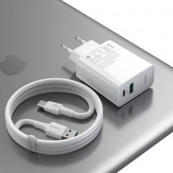 Incarcator Priza Baseus Mufa USB-C + Mufa USB, 30W, TZCCFS-H02 Foto 4 Powermag