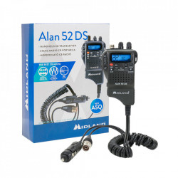 Statie CB portabila, Midland Alan 52 DS Multi, cu Squelch Automat Digital