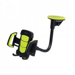 Suport auto universal Golf, brat flexibil, suport rotativ, fixare parbriz, consola, model CH07