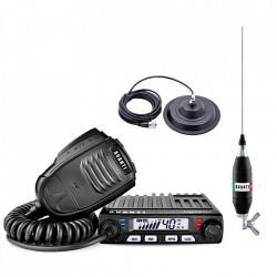 Kit Statie Radio CB Avanti Supremo + Antena CB Avanti Volo 130 cu Baza Magnetica Megawat