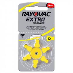 Baterii Proteze Auditive Rayovac Extra Advanced 10MF Hg 0%, zinc-aer 1.45V, Set 6 bucati