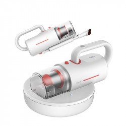 Aspirator Saltele si Canapele Deerma CM1300, UV, Cordless anti-acarieni cu batator si Lampa UV-C pentru igienizare antibacteriana