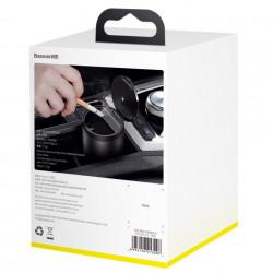 Scrumiera Auto Baseus tip Pahar cu Capac si LED Iluminare Interior, Neagra, Foto 5