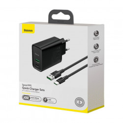 Incarcator Priza Baseus PPS Quick Charger, Mufa USB-C + Mufa USB, 30W incarcare rapida, cablu inclus, TZCCFS-H01, foto 3