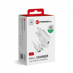 Incarcator retea Forcell PD, QC 4.0 Fast Charge, compatibil iPhone 11/12, cu cablu inclus USB-C la Lightning