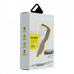 Incarcator Auto Telefon Smart Charger, Qualcomm QC3.0, 2 x USB, Foto 3