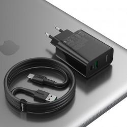 Incarcator Priza Baseus PPS Quick Charger, Mufa USB-C + Mufa USB, 30W incarcare rapida, cablu inclus, TZCCFS-H01, foto 4