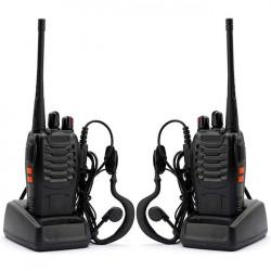 Statie Radio Portabila PNI PMR R20, Acumulatori 1200mAh, casti incluse, set 2buc