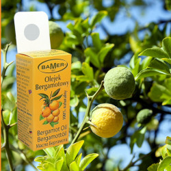 Ulei Esential de Bergamota Bamer, 100% natural, Citrus Bergamia Oil, pentru aromoterapie, cosmetica, baie, masaj, 7ml