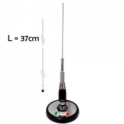 Antena Radio CB Avanti Uno, 37cm + Baza Magnetica Avanti 145C-Crome, cablu inclus 5m