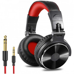 Casti Audio Over Ear Stereo OneOdio Pro-10, Studio & DJ, Red Wired, In Line-Mic