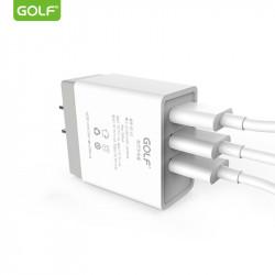 Incarcator Universal Telefon pentru retea, Golf 3 x USB, 3A fara cablu