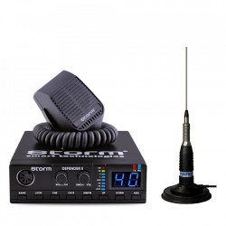 Kit Statie CB Storm Defender 3 cu ASQ + Antena Radio CB Sirio ML145, PAK 12