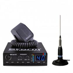 Kit Statie CB Storm Defender V3 + Antena Radio CB Sirio ML145, PAK 12