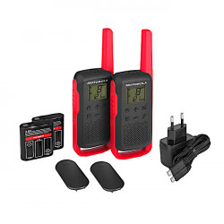 Motorola T62 Twin Pack Red, Rosu, Statii Portabile PMR, Walkie Talkie