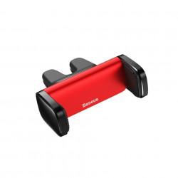Suport Auto Telefon Baseus Steel Cannon pentru grila auto de ventilatie, Rosu