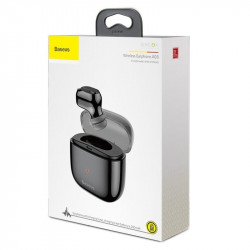 Mini Casca Bluetooth Baseus Encok A03 Case Charging Black Foto 8