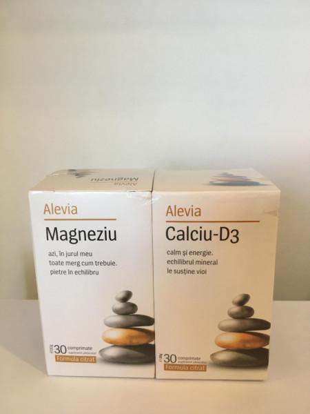 Calciu D3x30+Magneziu x30 Alevia