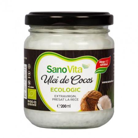 Eco ulei de cocos extravirgin 200ml Sanovita