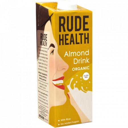 Lapte vegetal din migdale organic cu apa de izvor 1L Rude Health
