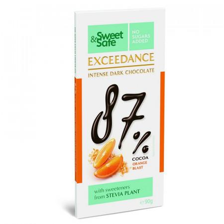 Sweet & Safe ciocolata exceedance amaruie portocale 90gr