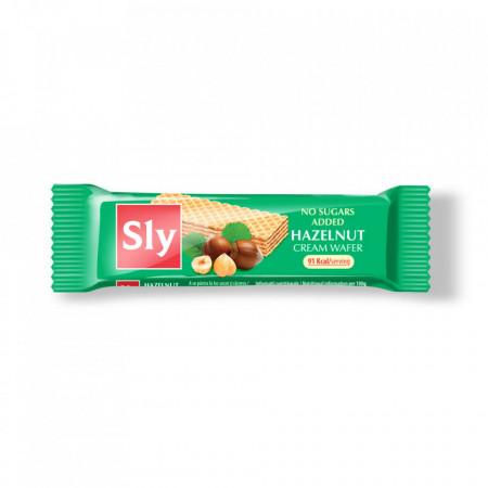 Napolitane cu crema alune fara zahar 20g Sly