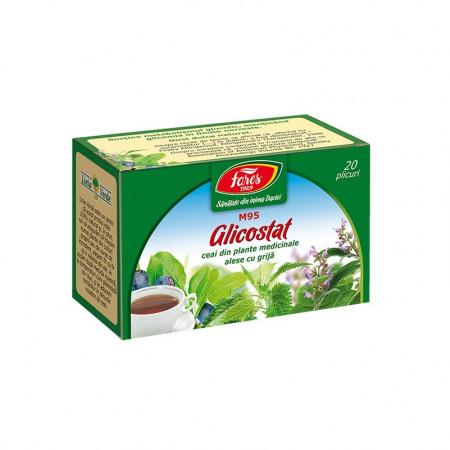 Glicostat ceai 20 plicuri Fares