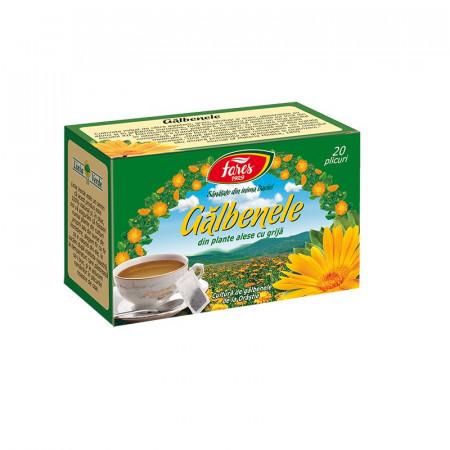 Galbenele ceai 20 plicuri Fares